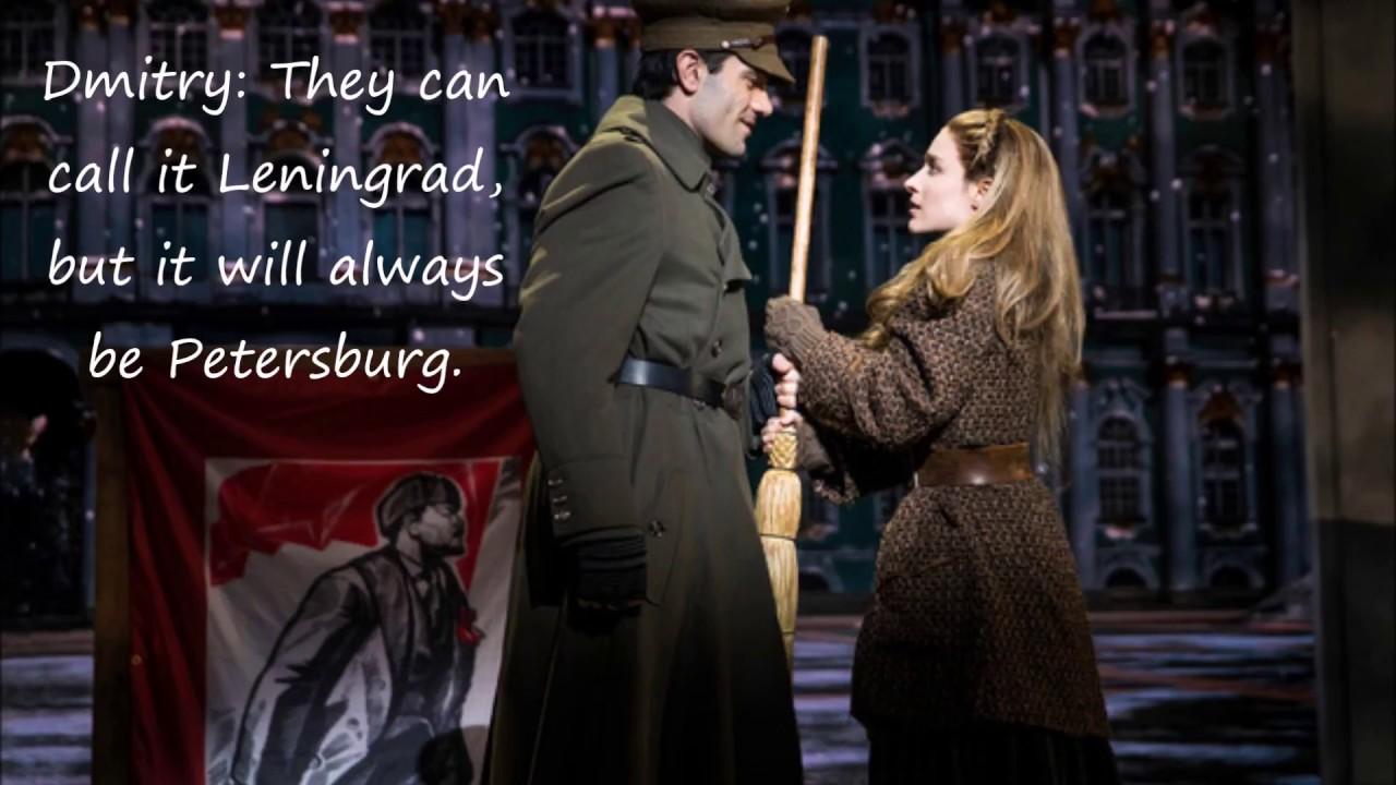 LYRICS - The Neva Flows - Anastasia Original Broadway CAST