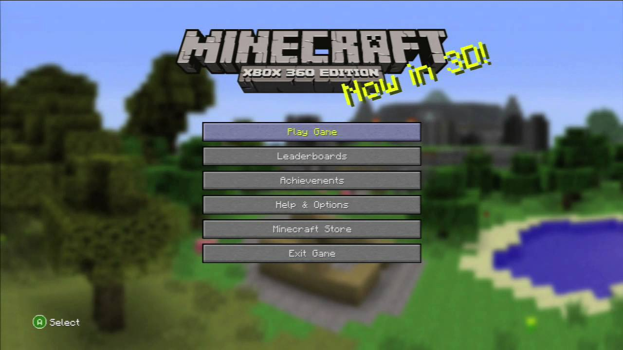 Minecraft Xbox 360 Edition Title Screen Xbox 360