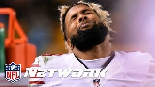 Odell Beckham Jr. hits Ref with a