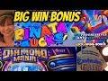 BIG WIN BONUS! NEW GAME PINATA BUCKS & DIAMOND MANIA