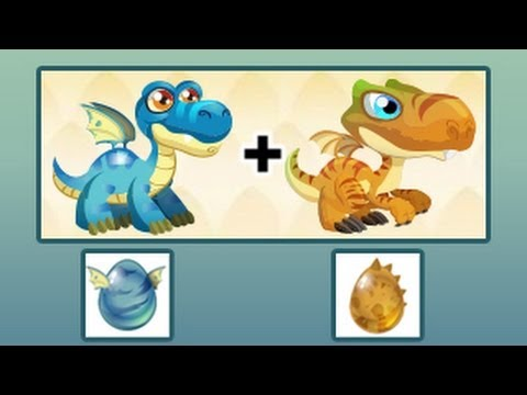 Brontosaurus Dragon and T Rex Dragon In Dragon City Review Eggs Level Up