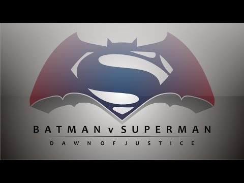 Tracing Batman V Superman Dawn Of Justice Logo In Simple Vector