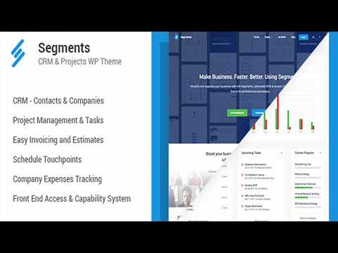 segments crm project management wordpress theme themeforest website templates and themes
