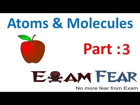 Chemistry Atoms & Molecules part 3 (Dalton Atomic Theory) CBSE class 9 IX