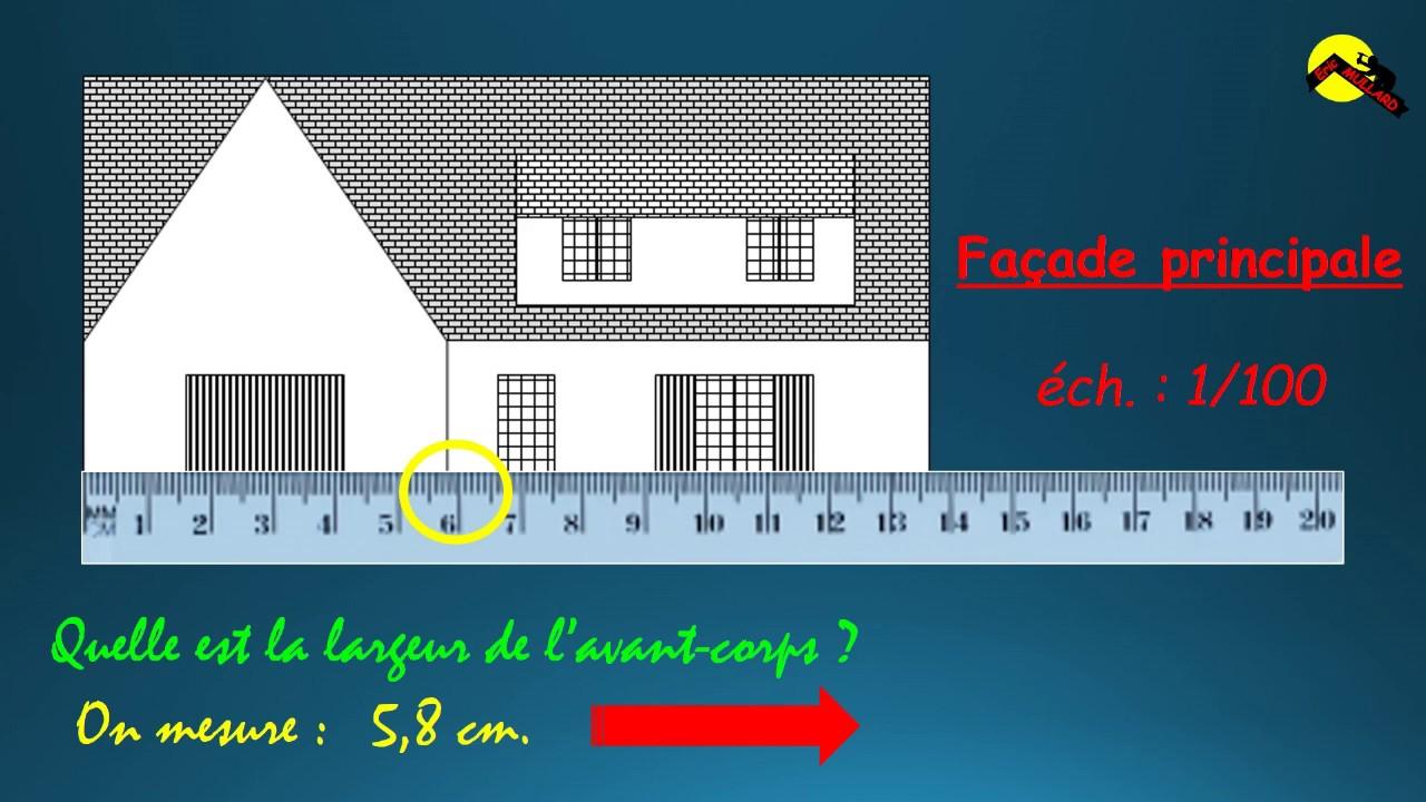 plan de maison échelle 1/100