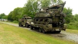 unloading m32 tank of diamont truck part1