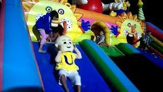 Asik & Seru Bermain di Istana Balon Mario Odong Odong Mainan Anak Kecil Pasar Malam - Upin Idola