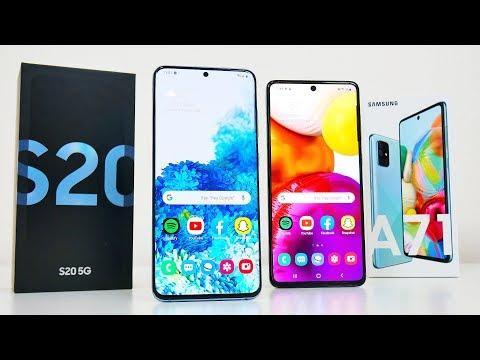 Samsung Galaxy S20 5G vs A71 Comparison! $999 vs $399