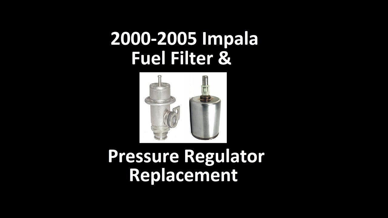 medium resolution of 2004 chevy impala 3400 fuel pressure regulator and fuel filter replacement