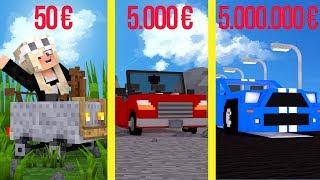 50 € vs 5.000.000 € TEURER SPORTWAGEN