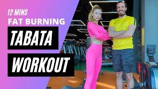Yağ Yakıcı Tabata Antrenmanı 12 dakika | 12 min Fat Burning Tabata Workout | FITINSANE