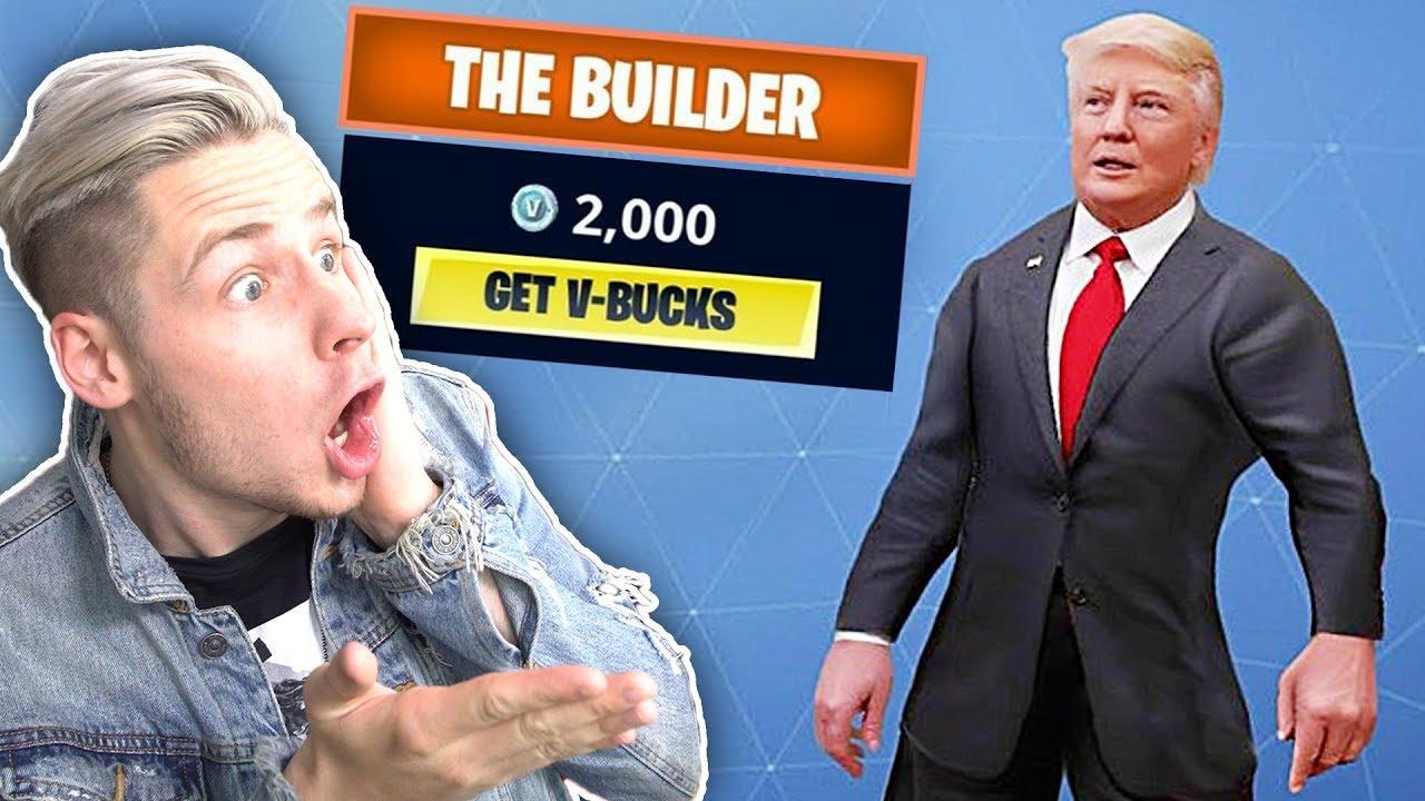 Donald Trump Skin In Fortnite Neue Skin Vorschläge Youtube