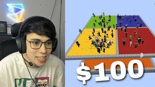 El último que se cae gana $100