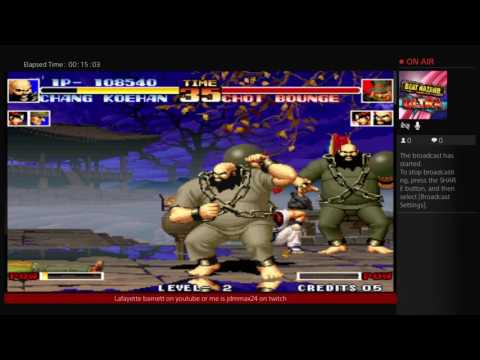 Pt3. King of fighter 94 team Korean and team Usa hello welcome Japanese version