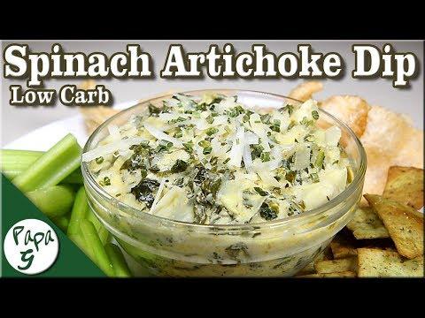 Spinach Artichoke Dip Recipe - Low Carb Keto Appetizer