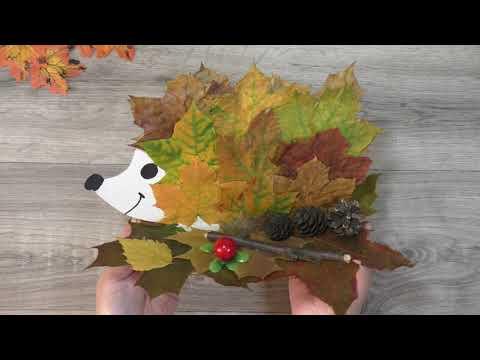 Поделки из листьев и природного материала своими руками