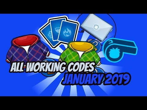 ALL Working Codes January 2019 - Club Penguin Rewritten