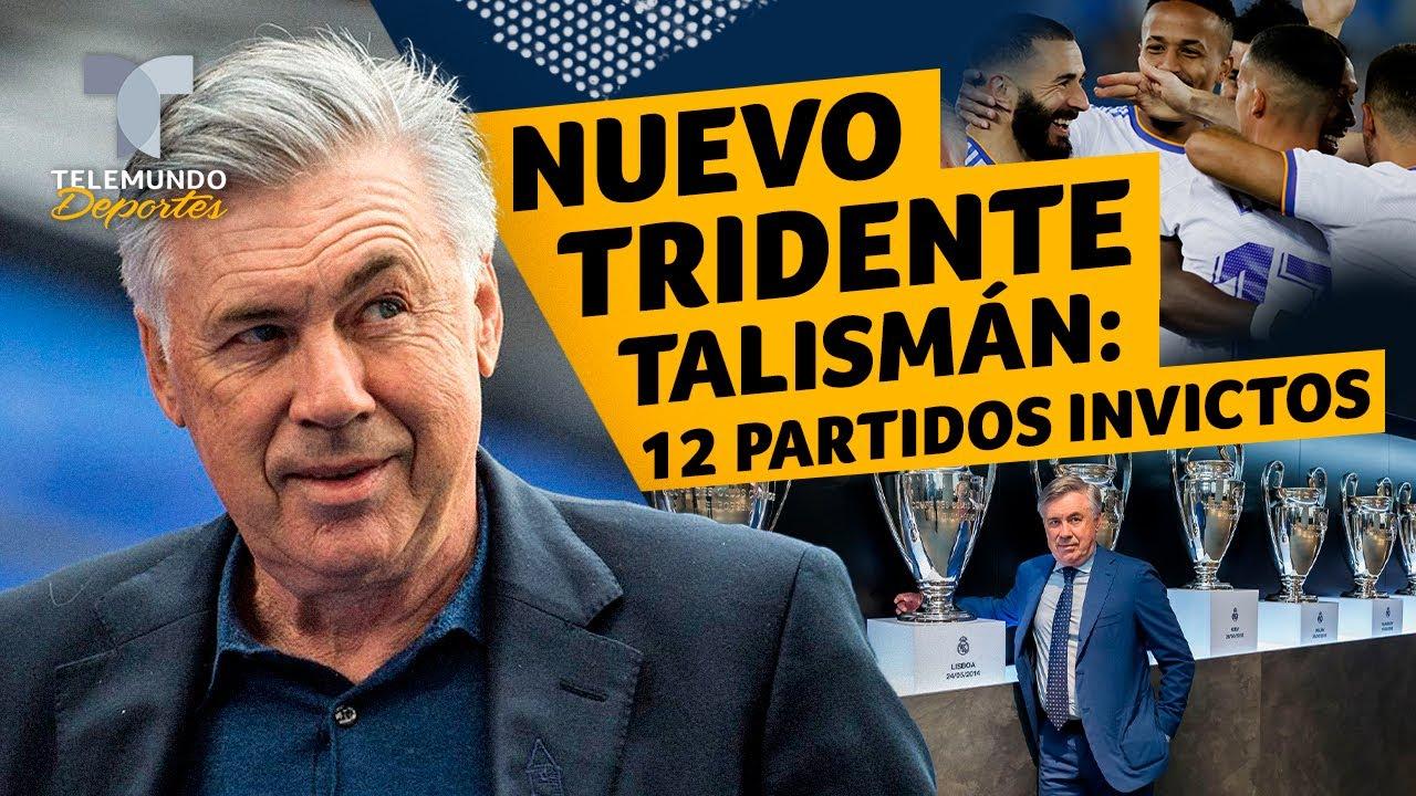 El nuevo tridente talismán de Ancelotti en el Madrid: 12 partidos invicto | Telemundo Deportes