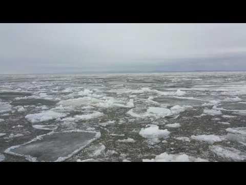 Chukchi ice breakup.