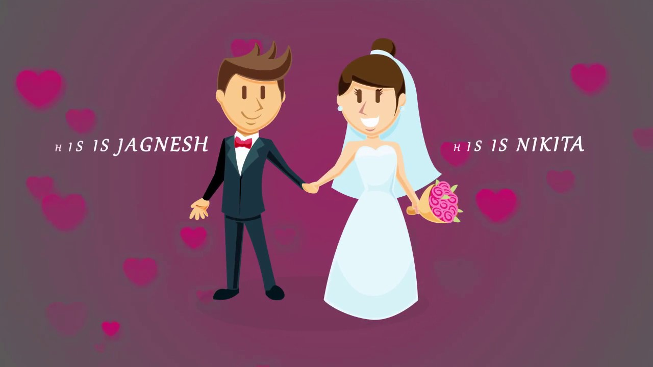 Wedding Invitation Animated Video (2d animation) - YouTube