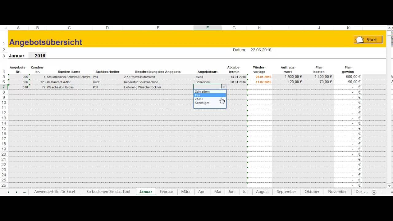 Lexware Angebotsplaner Angebote Komfortabel Erstellen Youtube
