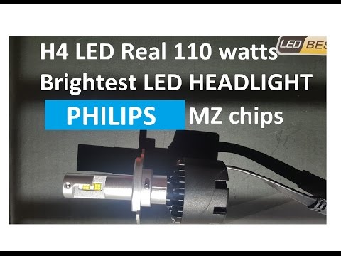 110 watts H4 Philips MZ LED chip in Halogen bulb type design by SNGL