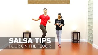 How To Stay Grounded in Your Salsa Basic Step On1 & On2 | TheDanceDojo.com
