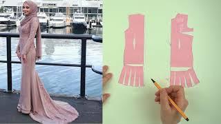 Моделирование платья со шлейфом. Вечернее платье / Bespoked.ru
