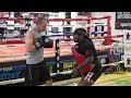 The Black Kobra Dewey Cooper teaches some novice boxers what it's like to train like a beast