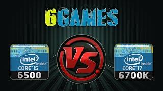 i7 6700k vs i5 6500   gtx 970 oc   2560 x 1440   in 6 games
