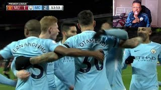MANCHESTER UNITED 1-2 MANCHESTER CITY (HIGHLIGHTS & GOALS) FULL GAME REACTION