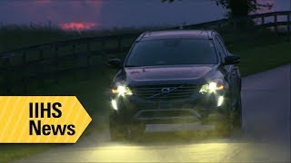 More than half of midsize SUV headlights tested rate marginal or poor - IIHS News thumbnail