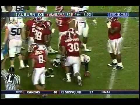 2008 Iron Bowl Alabama vs. Auburn - YouTube