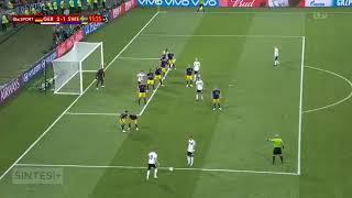 Toni Kroos unbelievable goal in 95 min, game-winning goal for Germany  🇩🇪 2 - 1 🇸🇪