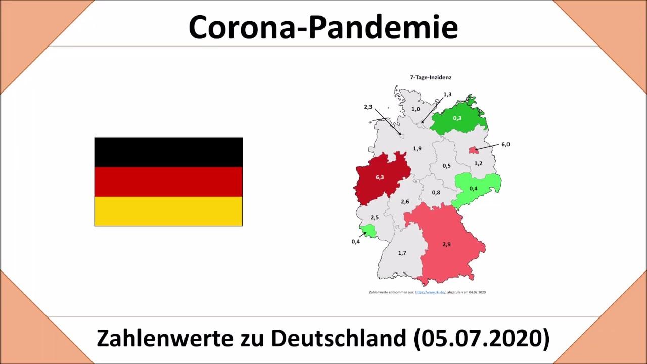 Coronavirus in Deutschland im Überblick - Stand: 05.07.2020 (Zahlen für Dtl. und die Bundesländer)