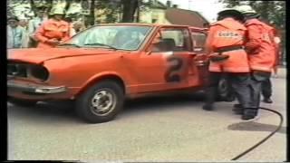 Übung der Feuerwehr Oberschleissheim 1984
