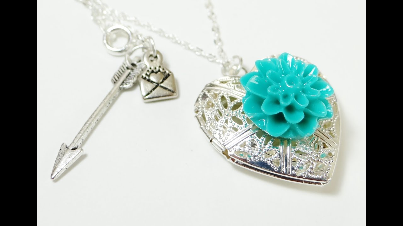 Beautiful How To - Dahlia Heart Locket Necklace - YouTube MR72