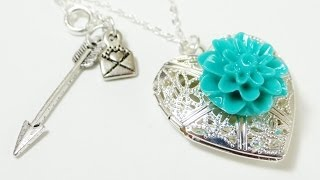 How To - Dahlia Heart Locket Necklace