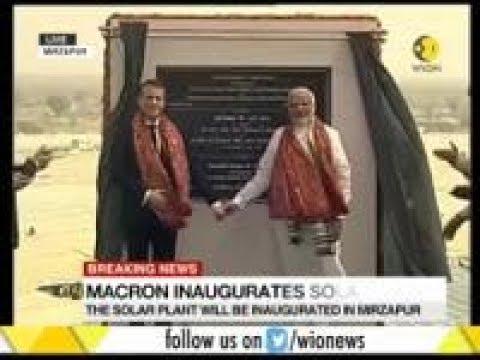 French President Macron inaugurates solar plant at Mirzapur