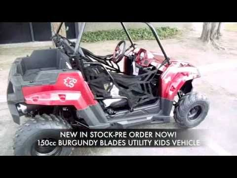blades 150cc burgundy kids utility vehicle side x side 2099 payments as low 243 for 12 months. Black Bedroom Furniture Sets. Home Design Ideas