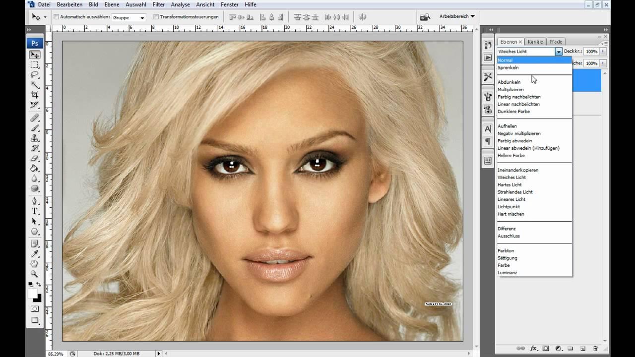 Haarfarbe andern photoshop cs5