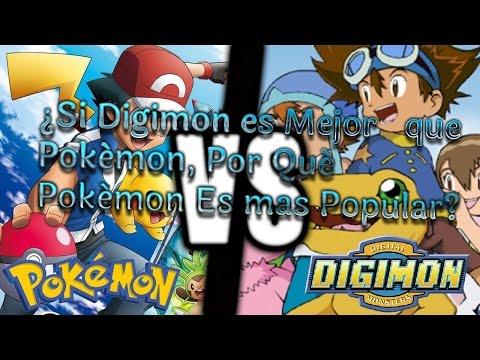 ¿Si Digimon es Mejor que Pokémon, Por Qué Pokémon es mas Popular?