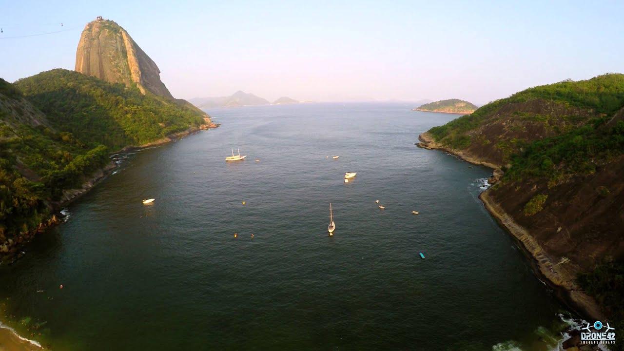 Dji Phantom 2 >> Drone42 - Praia Vermelha, Urca, Rio de Janeiro - YouTube