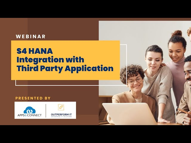 Webinar: SAP S4 HANA Integration with Third-Party Applications | APPSeCONNECT
