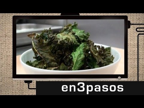 C mo cocinar kale chips youtube for Cocinar kale