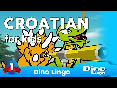 Croatian for kids DVD set - Children learning Croatian, hrvatski jezik, Croatia