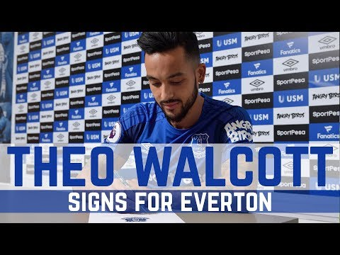 THEO WALCOTT SIGNS FOR EVERTON