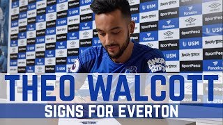 Video THEO WALCOTT SIGNS FOR EVERTON download MP3, 3GP, MP4, WEBM, AVI, FLV Januari 2018