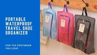 ☂ A Weatherproof Waterproof Travel Shoe Organizer for the Footwear you Love ♥