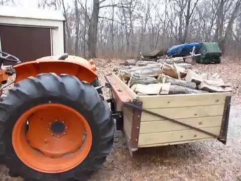 Kubota 3 Point Hitch Wood Hauler Youtube